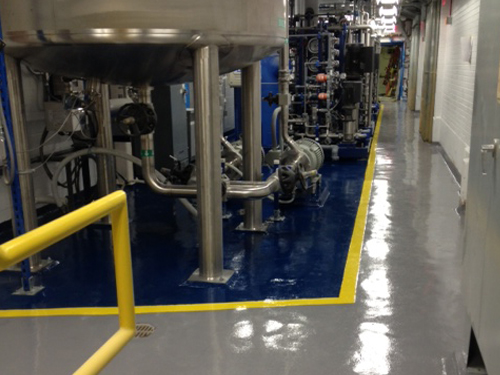 stonclad flooring in pharmaceutical facility