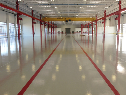 stonclad flooring in manufacturing facility